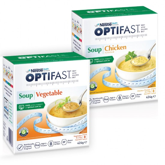 Optifast soup  (8 x 53g) (4pack)